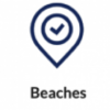 Beaches Logo Button